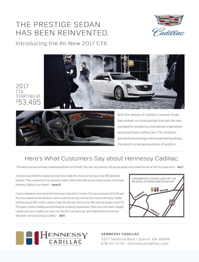Cadillac Automotive Print Design -3 by ewingworks.com