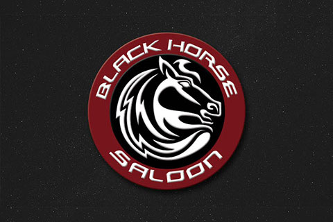Black Horse Saloon Logo by Ewingworks.com