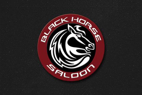 Black Horse Saloon Logo by Ewingworks.com