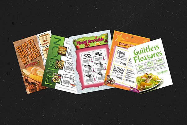 Promotional Flyers Restaurant by ewingworks.com