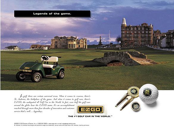 EzGo Gold Cart Ad 1 by ewingworks.com