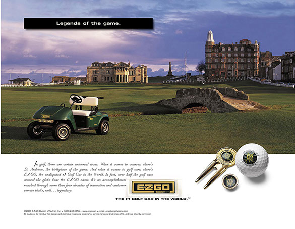 EzGo Gold Cart Ad 1 by ewingworks.com