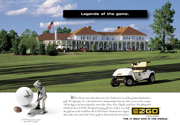 EzGo Gold Cart Ad 2 by ewingworks.com