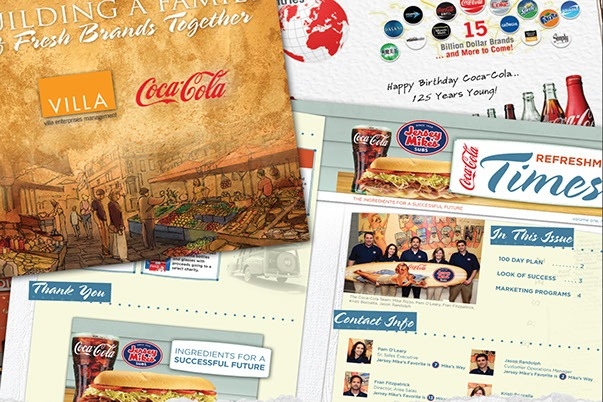Jersy Mikes and Coke Menu Design Print Design