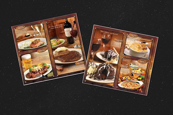 Olive Garden Menus and Promotions Print Design