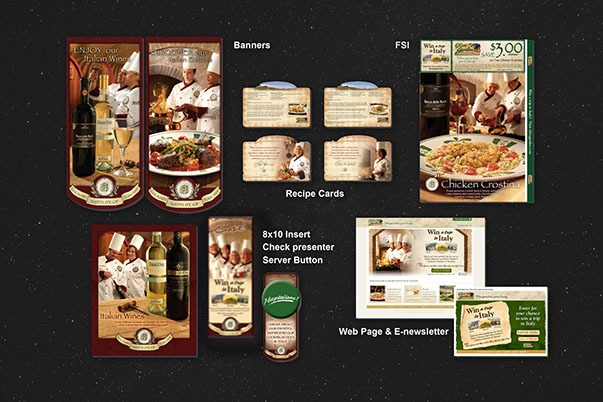 Olive Garden Menus and Promotions-3 Print Design