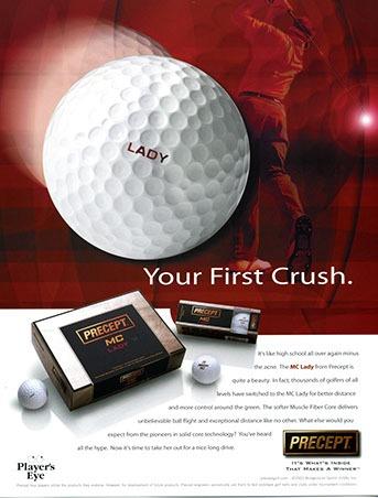 Precept Golf Ball Laddies ad by ewingworks.com