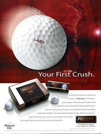 Precept Golf Ball Laddies ad by ewingworks.com