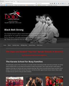 The Dojo Karate Centers Website by Atlanta Website Design Companies, ewingworks.com