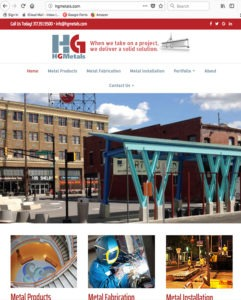 HG Metals Industrial Steel Construction Website