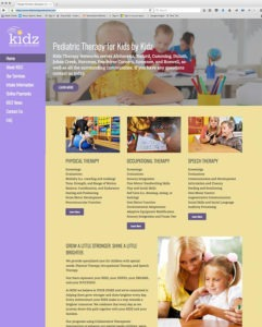 Website developed for healthcare, children and medical industry.