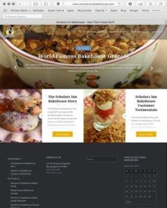 Scholars Inn Bakehouse website designed by EwingWorks.com