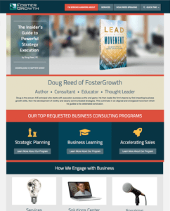 Foster Growth Home Page by Atlanta Website Design Companies, ewingworks.com