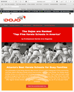 The Dojo Website Design