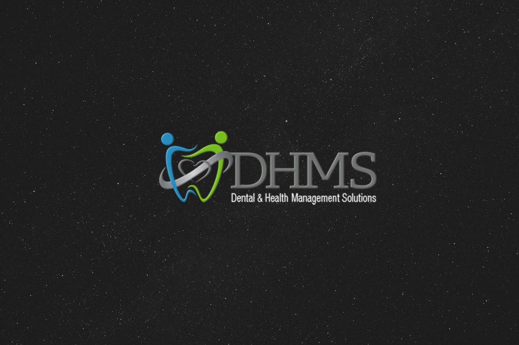 DHMS Dental logo design by ewingworks.com