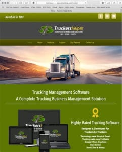 Truckers Helper Website designed