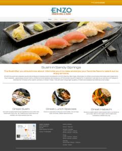 EnzosSuchi.com Website Design,